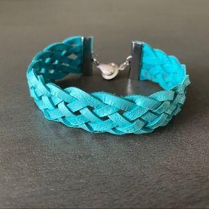 Leather Lattice Bracelet